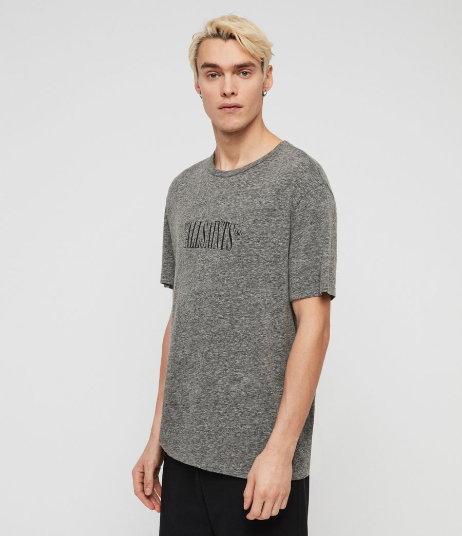 Mens Brackets Crew T-Shirt (grey_mouline) - Image 1