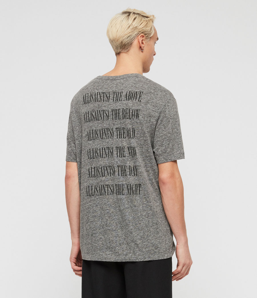 Men's Brackets Crew T-Shirt (grey_mouline) - Image 2