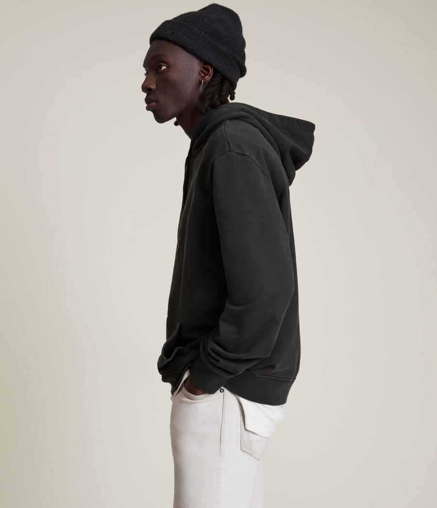 Men's Posie Pullover Hoodie (jet_black) - Image 4