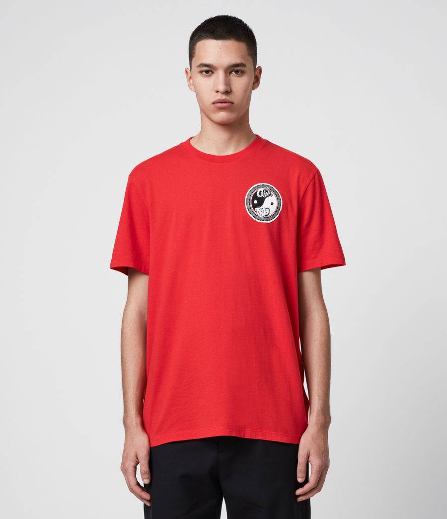 Herren Lunarat Ss T-Shirt (poppy_red) - Image 1