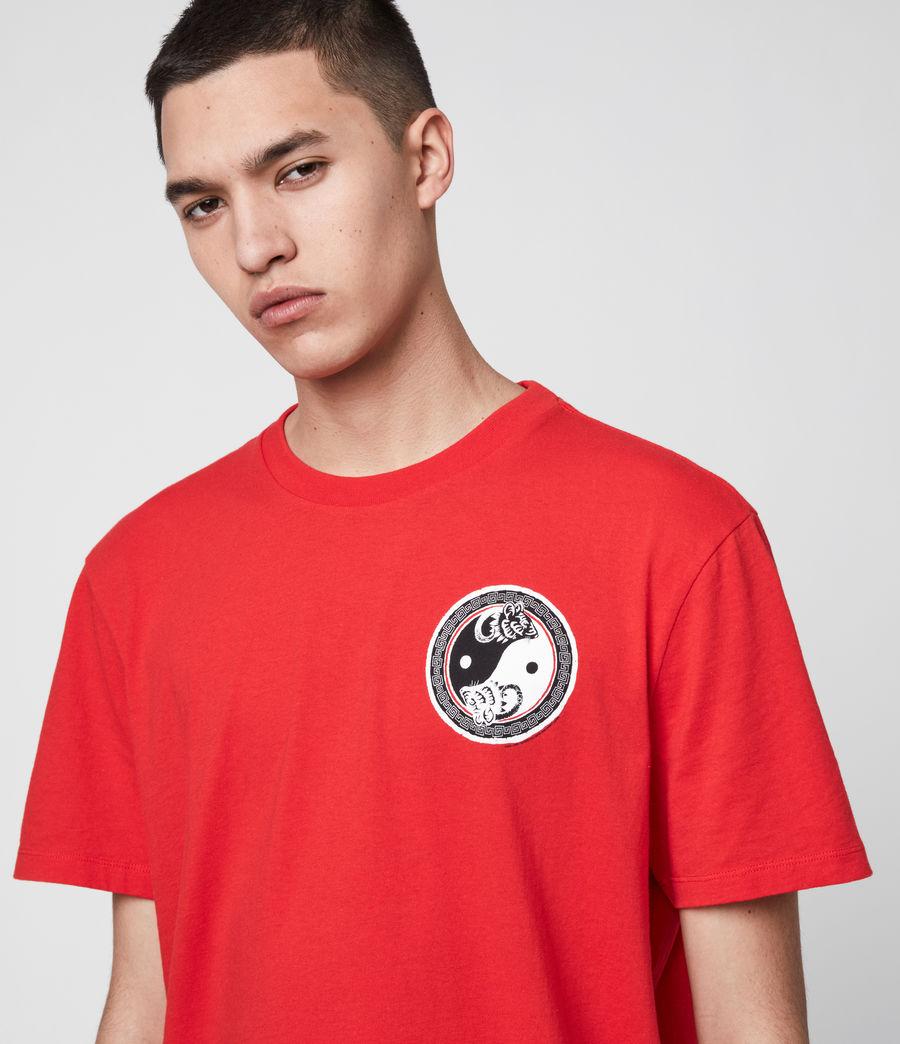 Men's Lunarat Crew T-Shirt (poppy_red) - Image 2