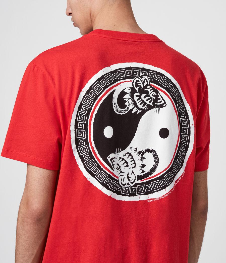 Herren Lunarat Ss T-Shirt (poppy_red) - Image 3