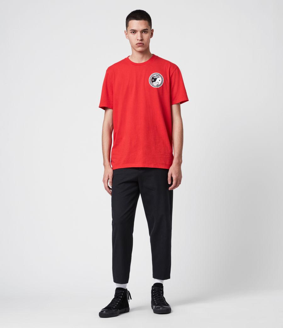 Herren Lunarat Ss T-Shirt (poppy_red) - Image 4