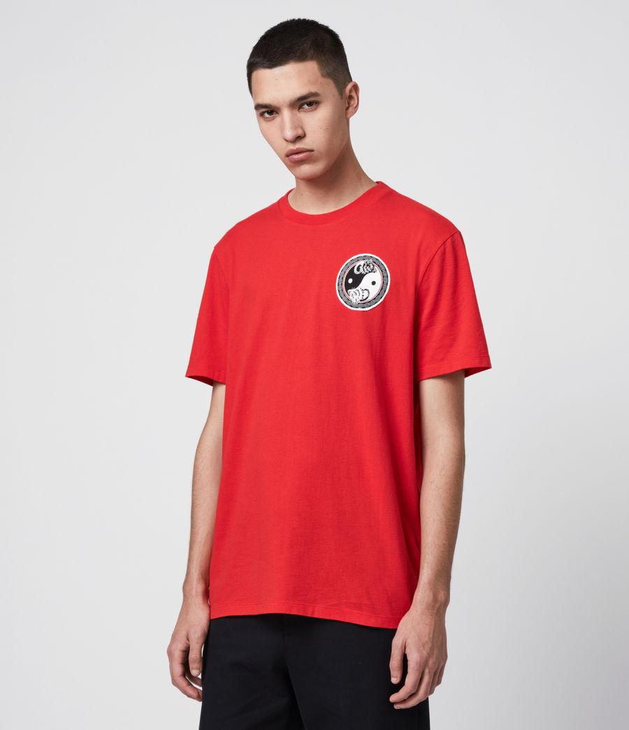 Herren Lunarat Ss T-Shirt (poppy_red) - Image 5