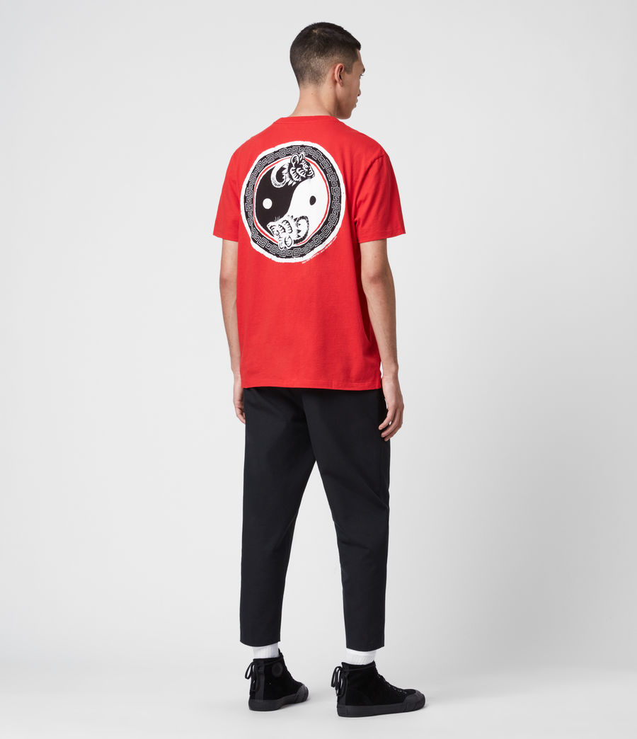 Herren Lunarat Ss T-Shirt (poppy_red) - Image 6