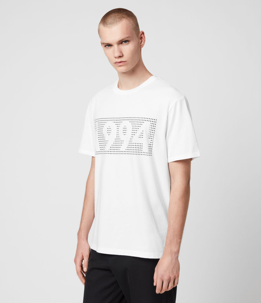 Mens Ninetyfour Crew T-Shirt (white) - Image 4