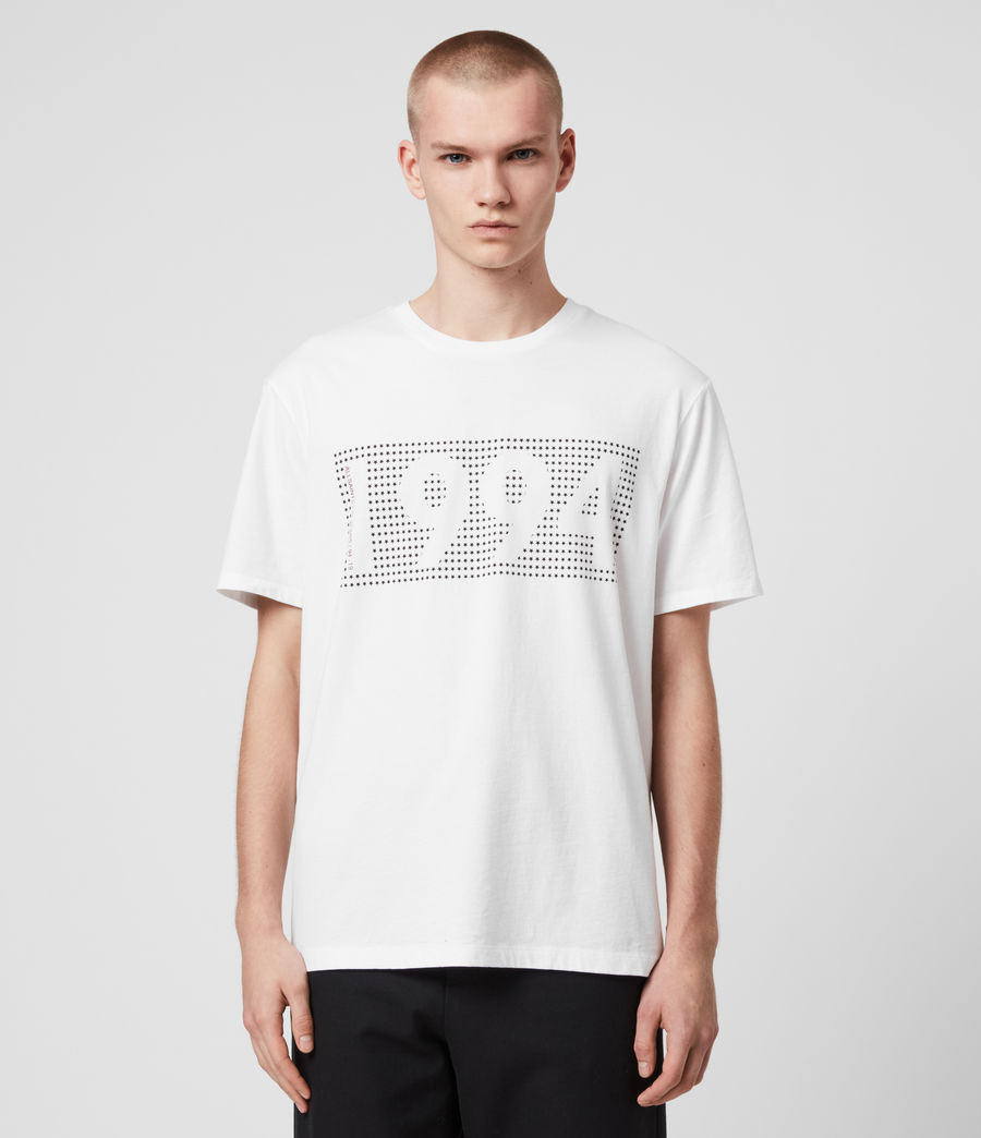 Mens Ninetyfour Crew T-Shirt (white) - Image 5
