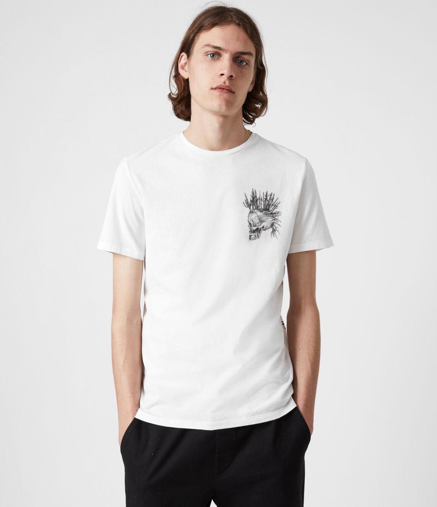 Mens Forsaken Crew T-Shirt (optic_white) - Image 4