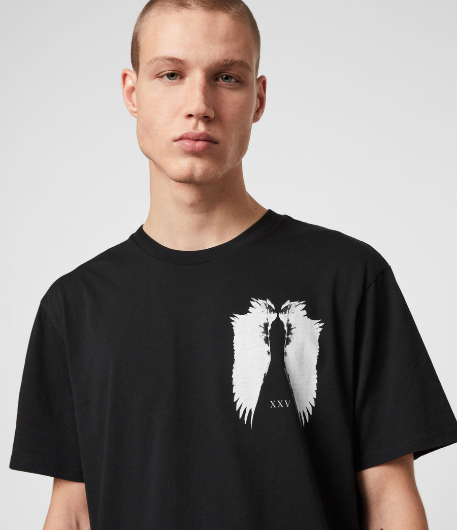 Men's Wings Crew T-Shirt (black) - Image 2