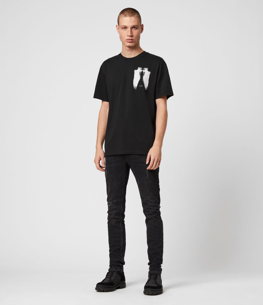 Men's Wings Crew T-Shirt (black) - Image 3