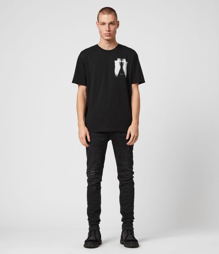 Men's Wings Crew T-Shirt (black) - Image 4