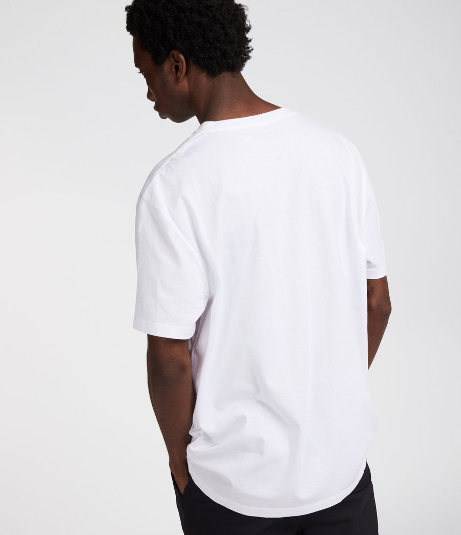 Uomo Horizon Crew T-Shirt (optic_white) - Image 5