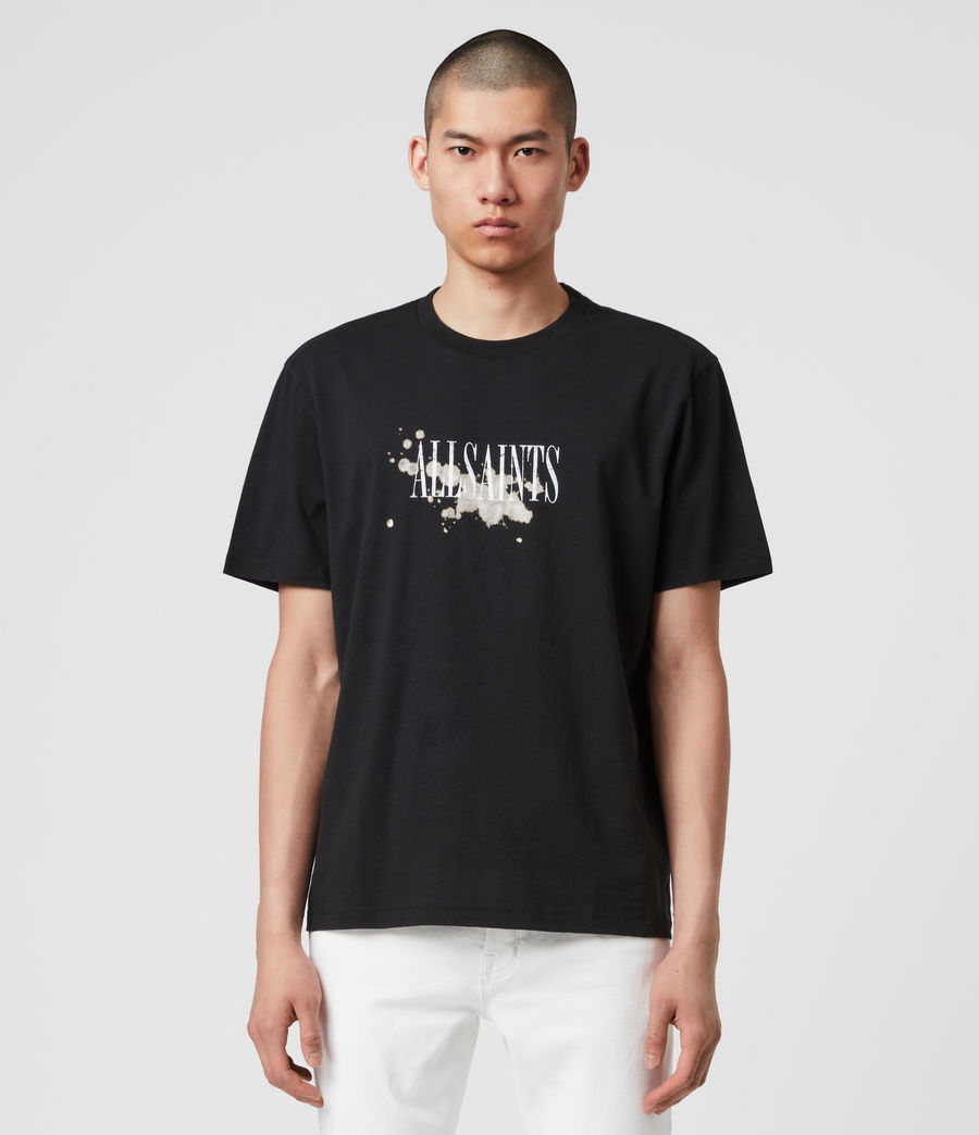 Herren Bleach Splash T-Shirt (jet_black) - Image 1