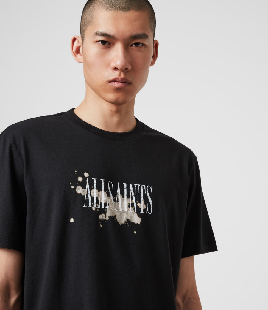 Herren Bleach Splash T-Shirt (jet_black) - Image 2