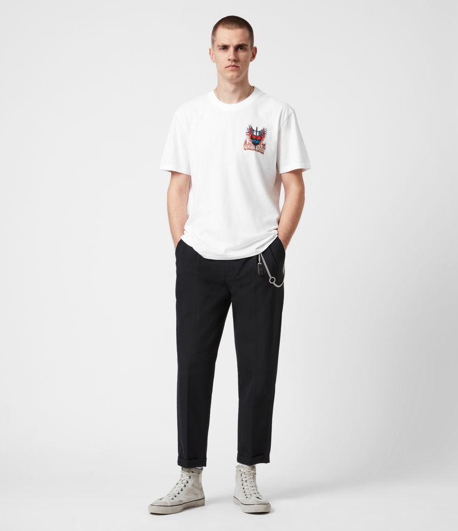 Men's Valento Crew T-Shirt (optic_white) - Image 6