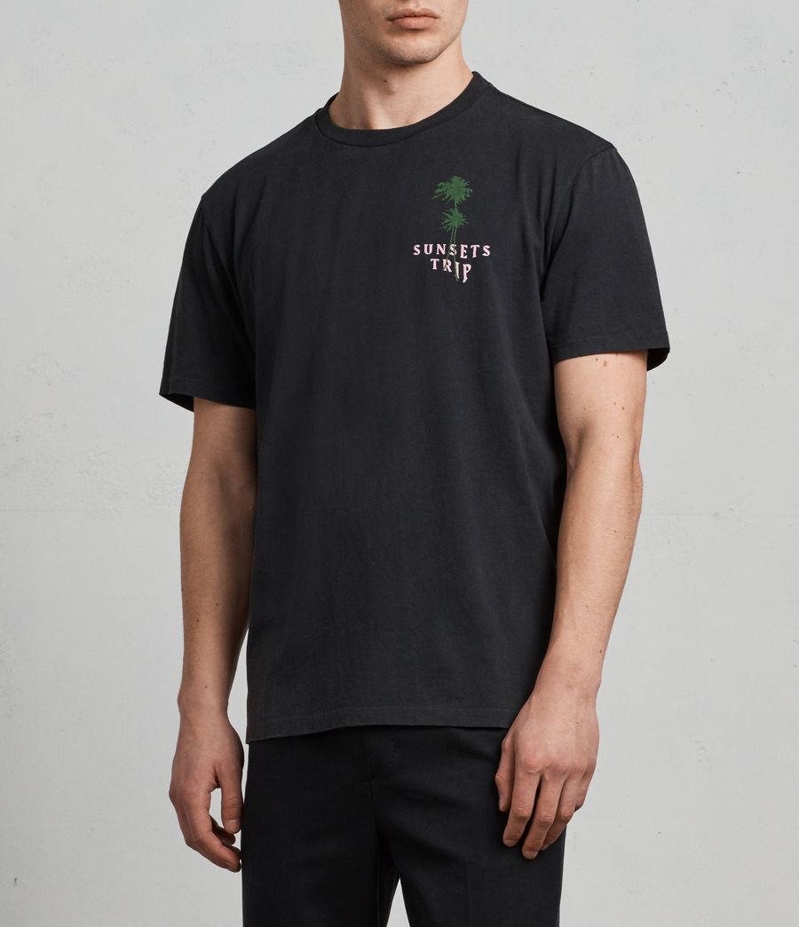 Men's Trip Crew T-Shirt (black) - Image 3