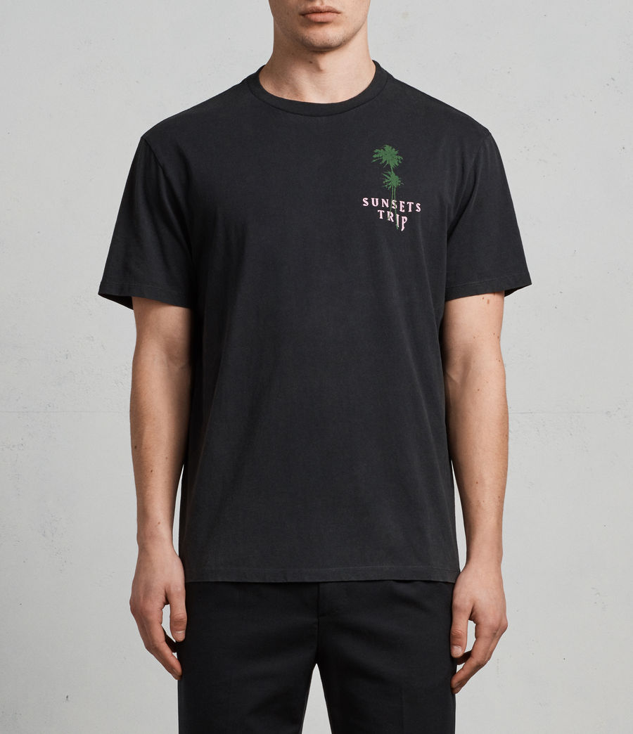 Men's Trip Crew T-Shirt (black) - Image 4