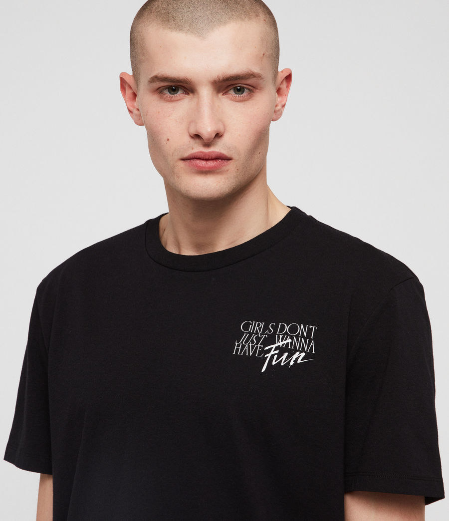 Men's IWD Fun T-Shirt (black) - Image 2