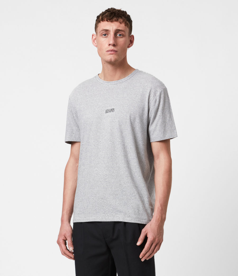 Herren Statestripe T-Shirt (jet_black) - Image 1