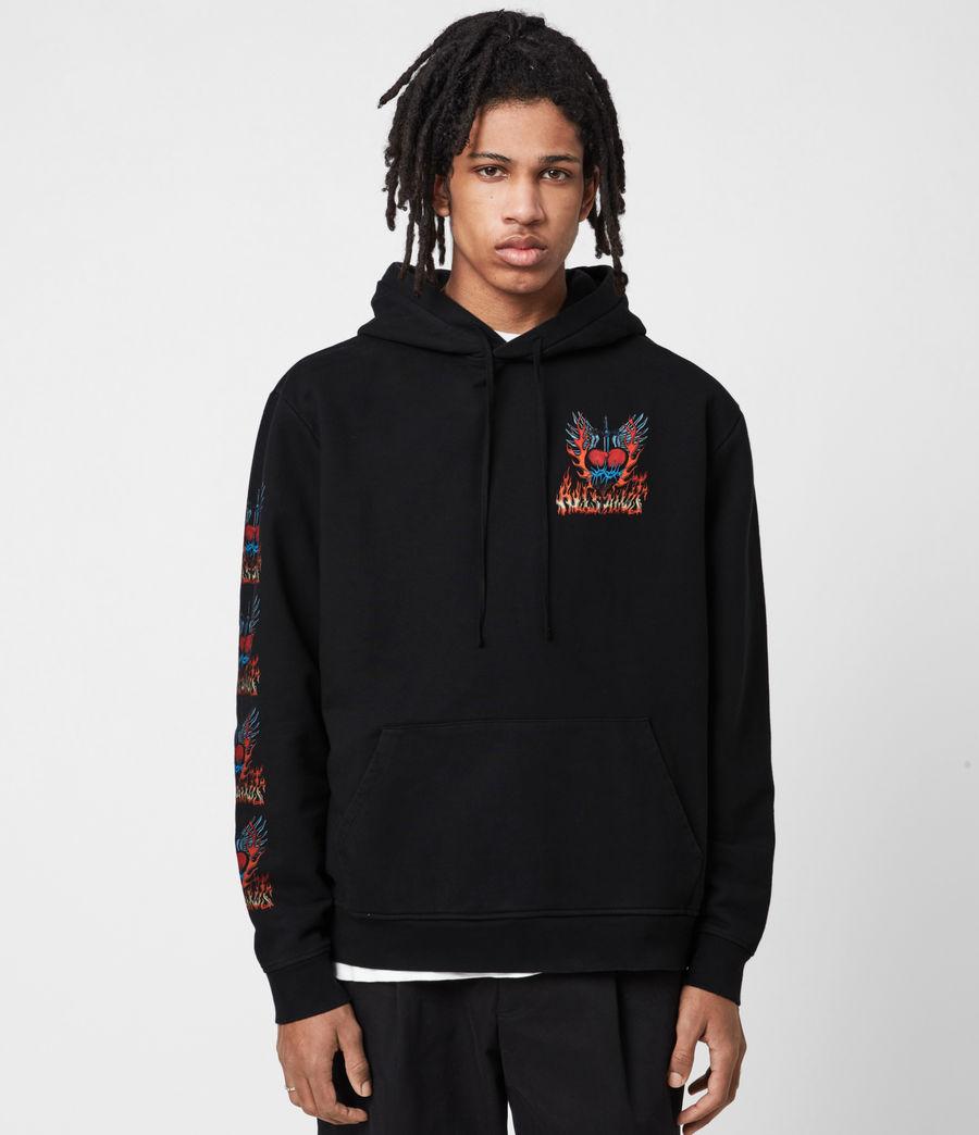 Men's Valento Pullover Hoodie (jet_black) - Image 4