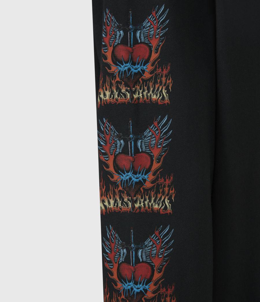 Men's Valento Pullover Hoodie (jet_black) - Image 6