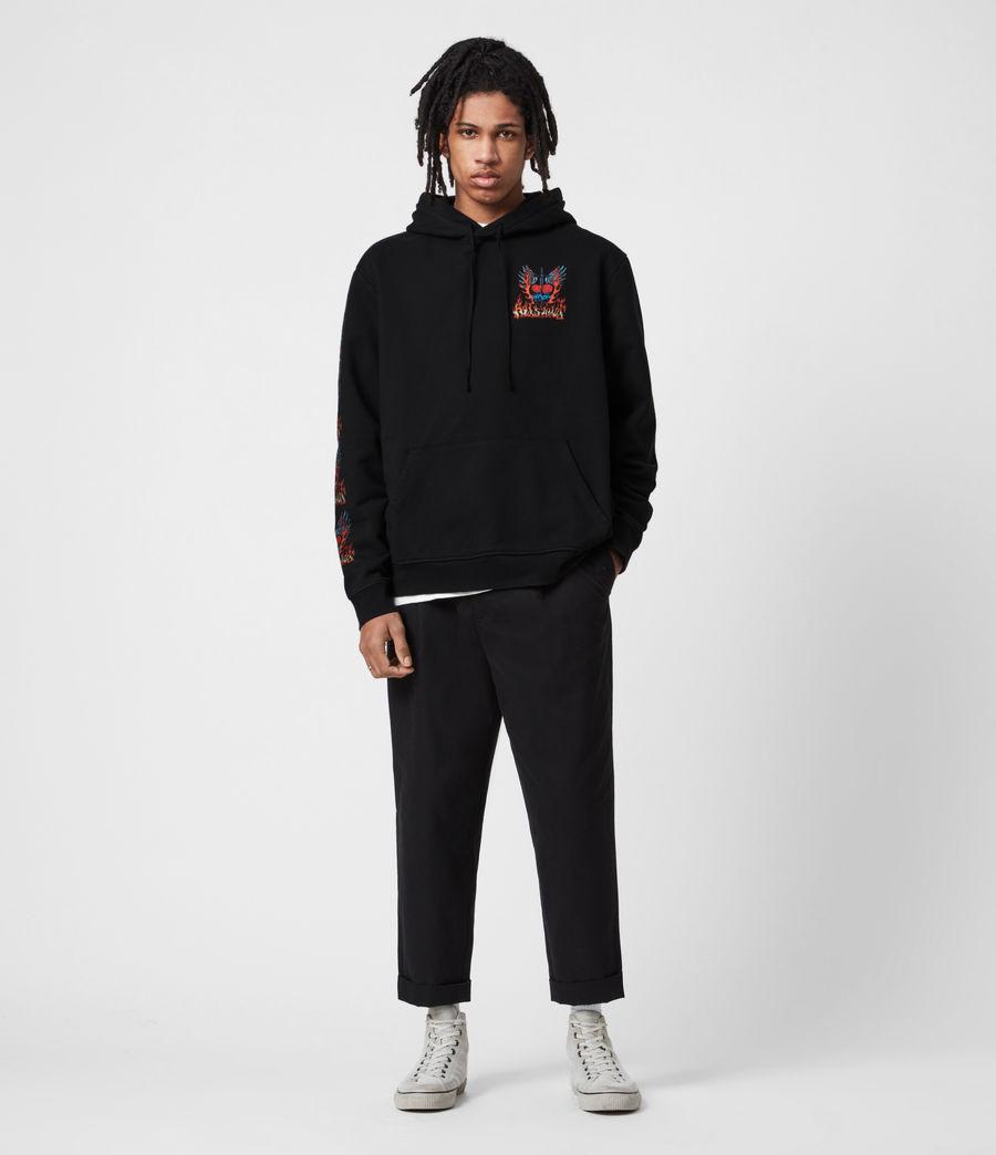 Men's Valento Pullover Hoodie (jet_black) - Image 8