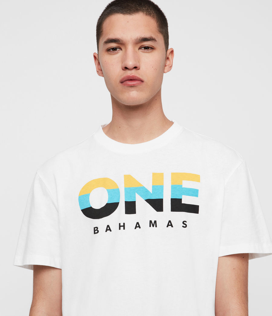 Mens Bahamas Crew T-Shirt (optic_white) - Image 1
