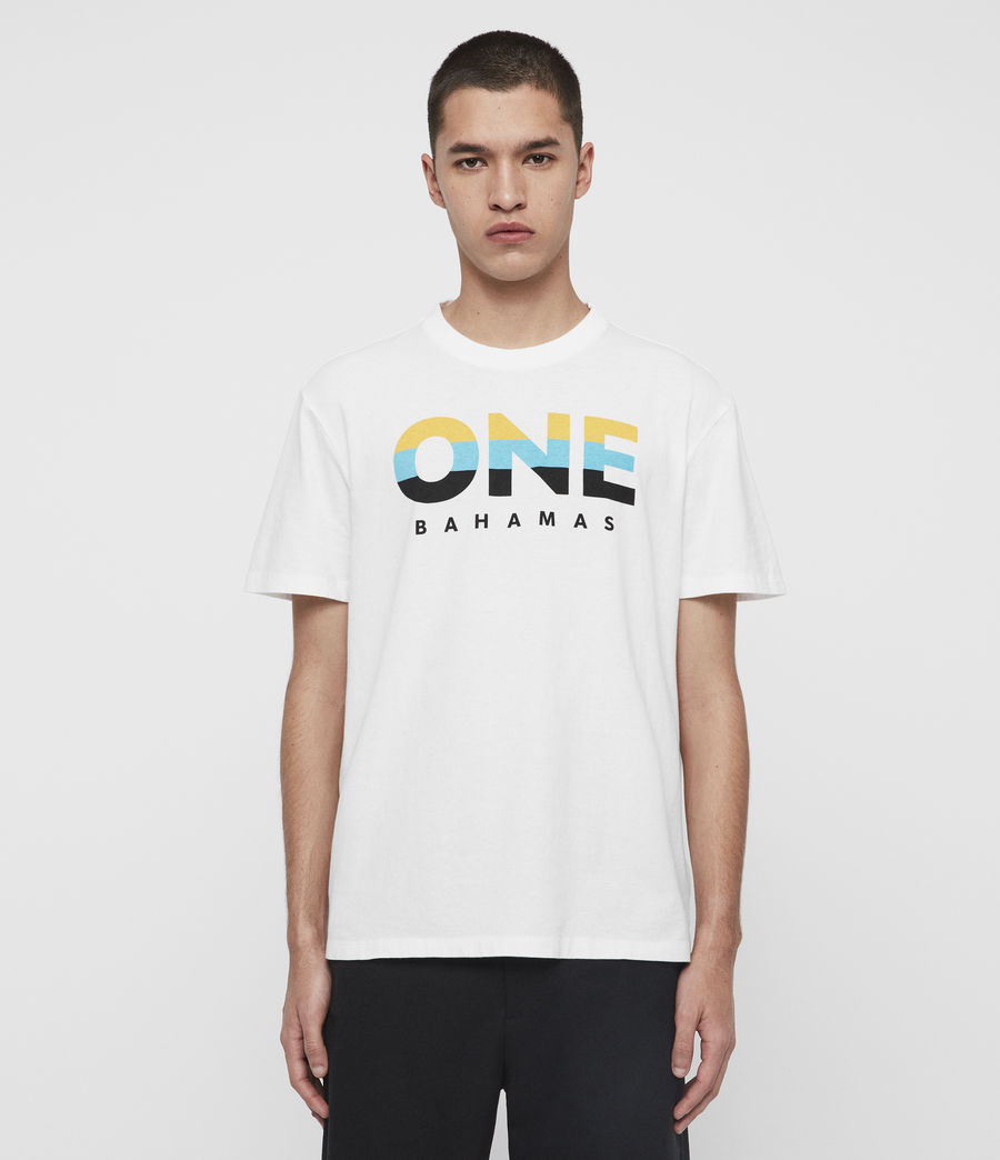 Mens Bahamas Crew T-Shirt (optic_white) - Image 2
