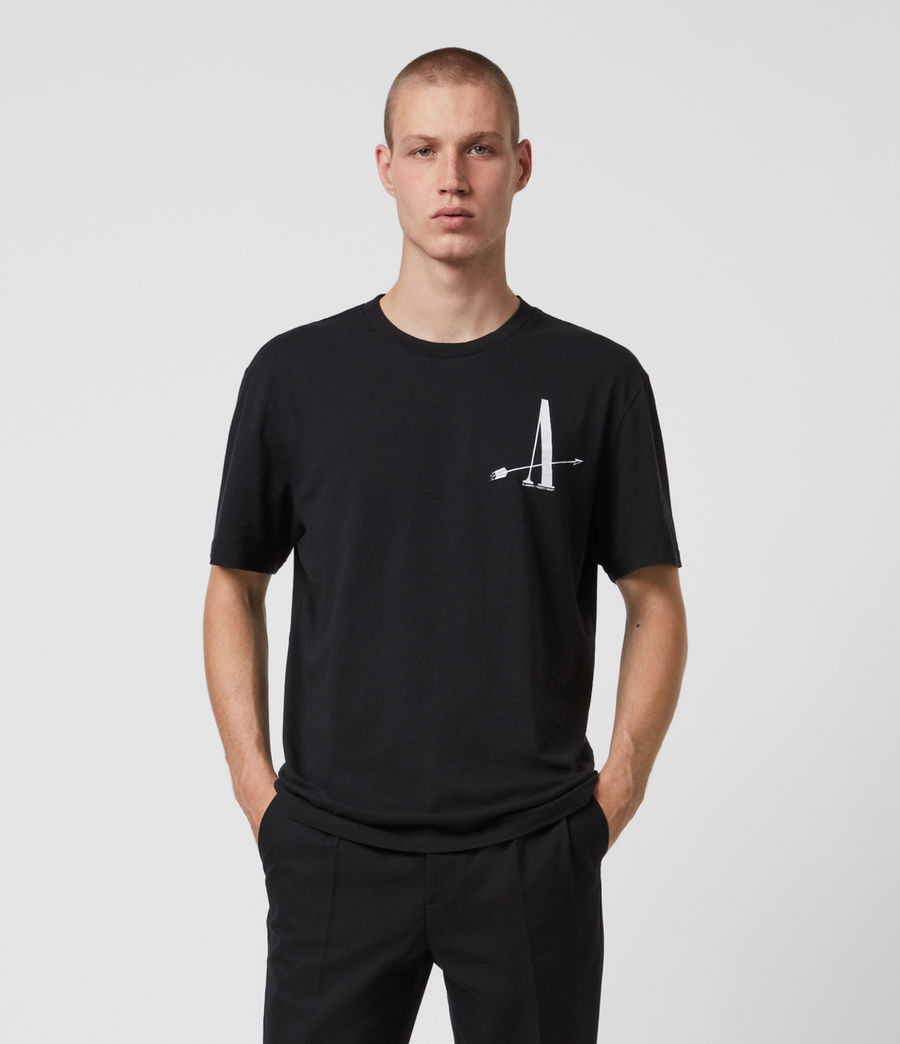 Mens Target Crew T-Shirt (jet_black) - Image 1