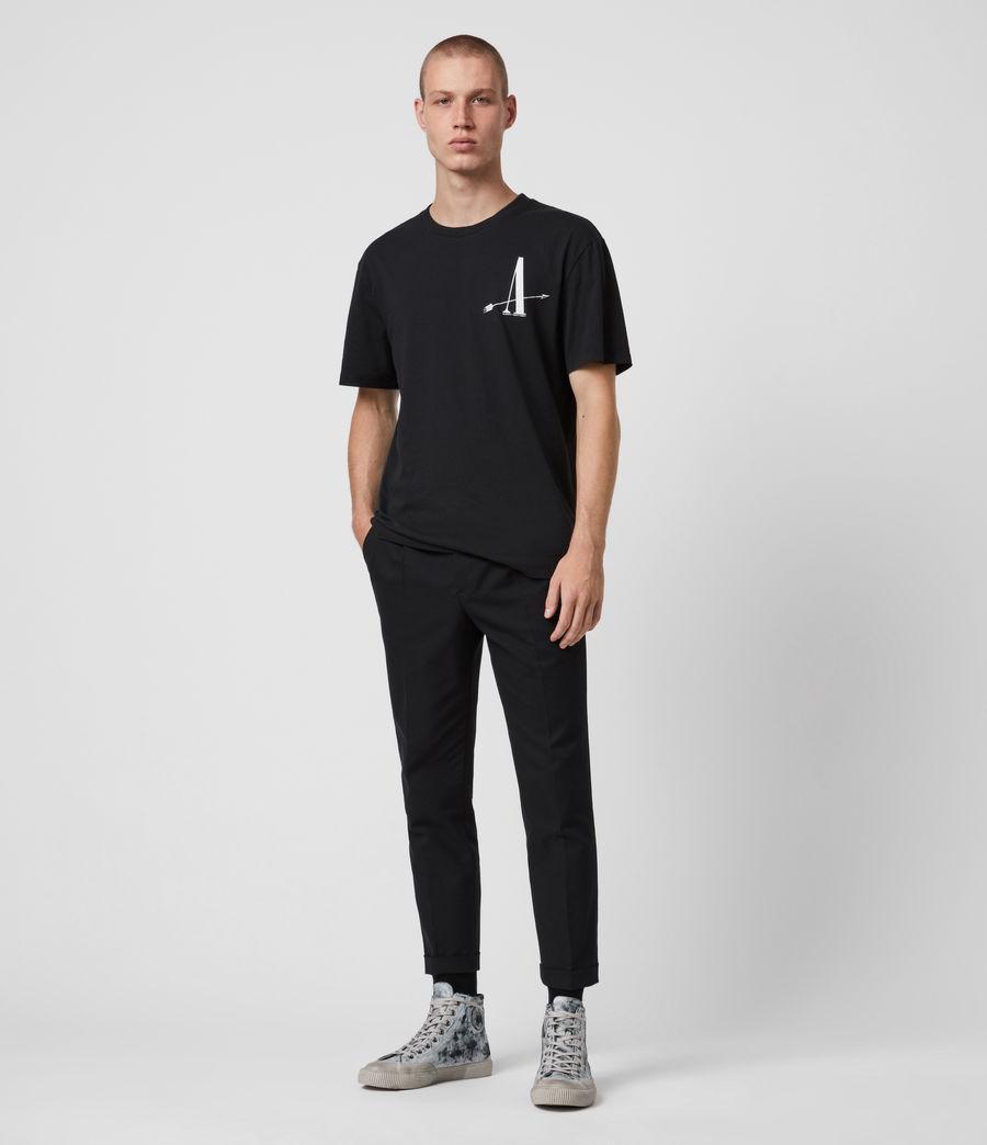 Mens Target Crew T-Shirt (jet_black) - Image 4