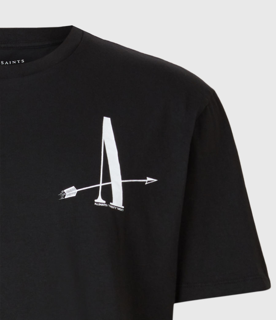 Mens Target Crew T-Shirt (jet_black) - Image 6