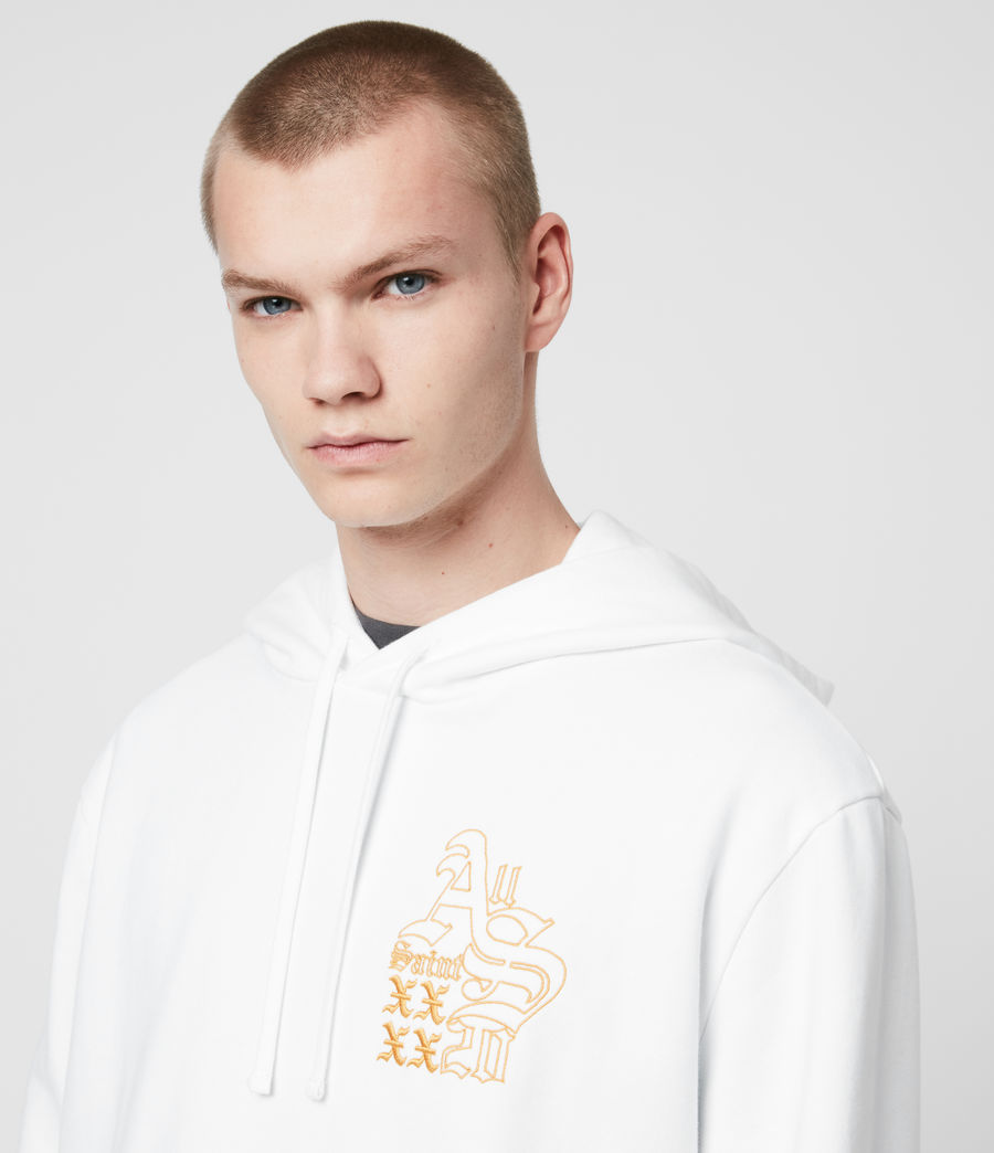 Men's Ex Mono Hoodie (optic_white) - Image 2
