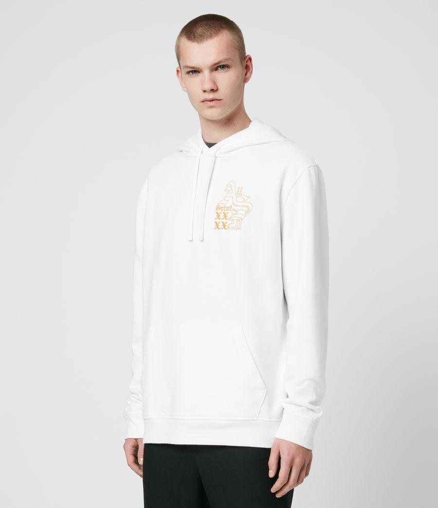 Men's Ex Mono Hoodie (optic_white) - Image 4