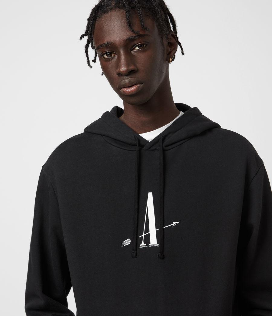 Mens Target Hoodie (jet_black) - Image 4