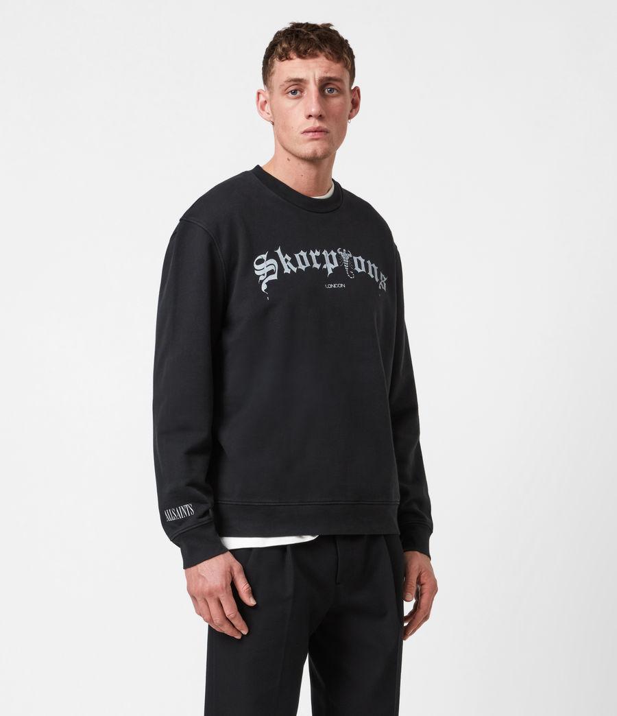 Herren Skorpions Crew Sweatshirt (jet_black) - Image 6