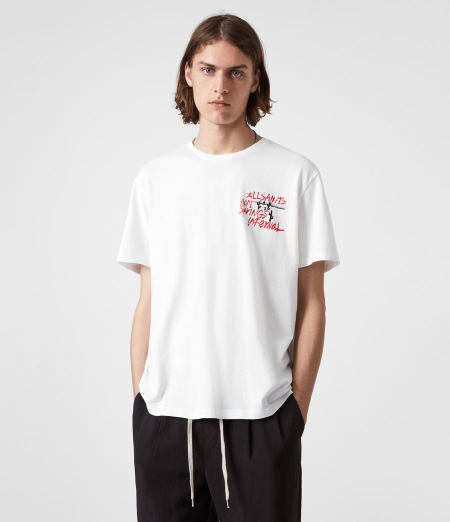 Mens Raoul Crew T-Shirt (optic_white) - Image 4