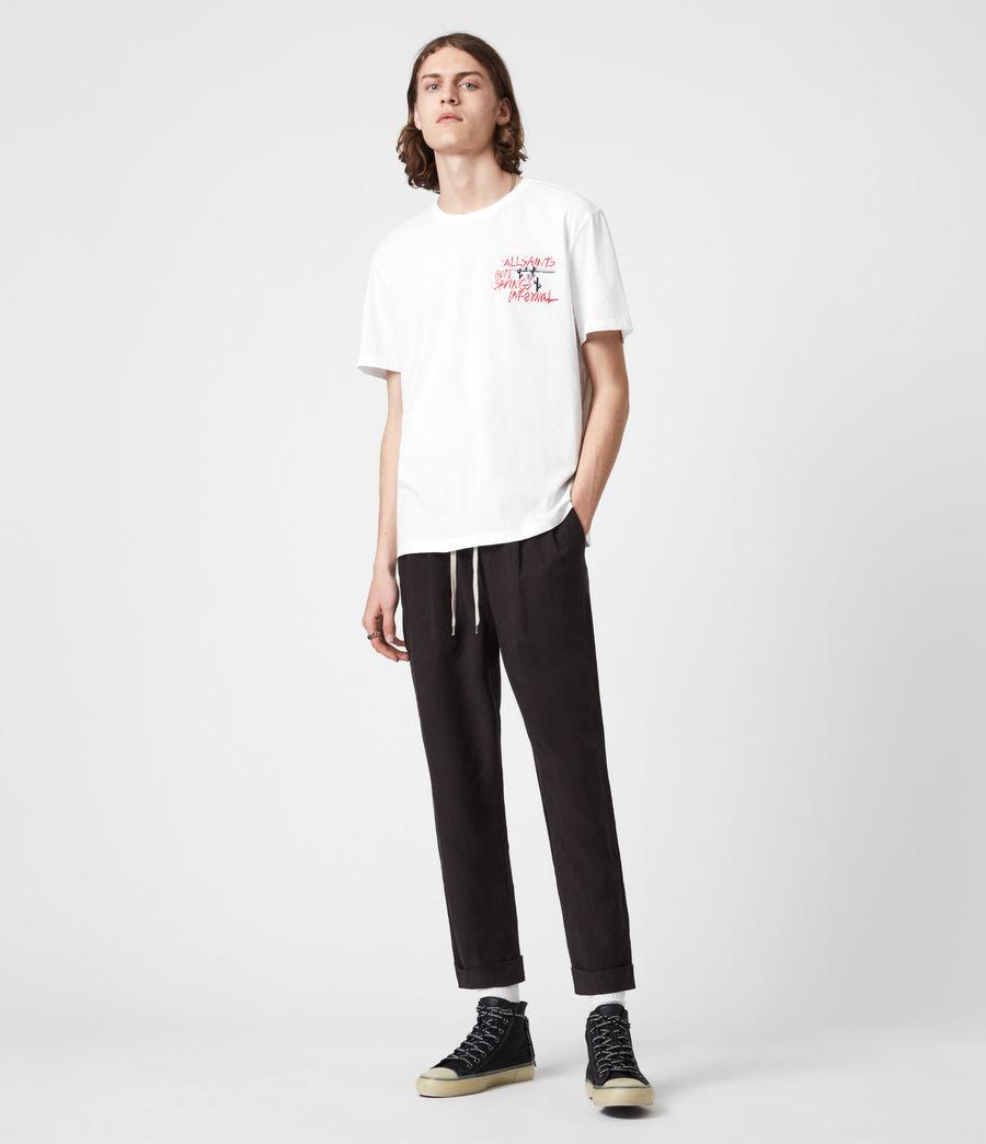 Mens Raoul Crew T-Shirt (optic_white) - Image 6