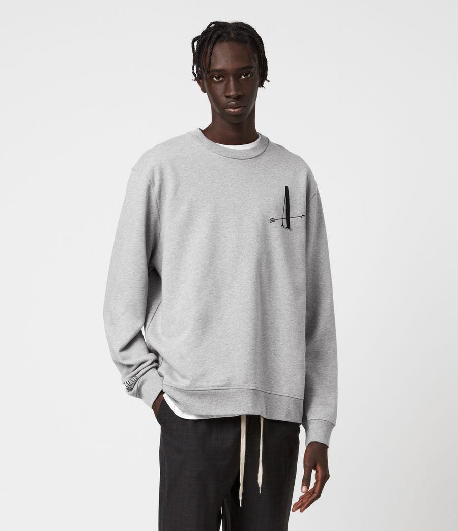Men's Target Crew Sweatshirt (grey_marl) - Image 1