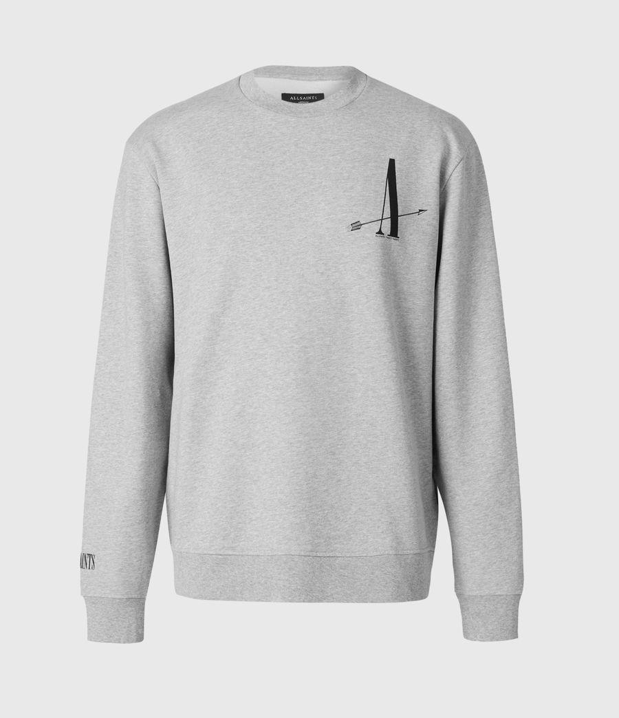 Men's Target Crew Sweatshirt (grey_marl) - Image 2