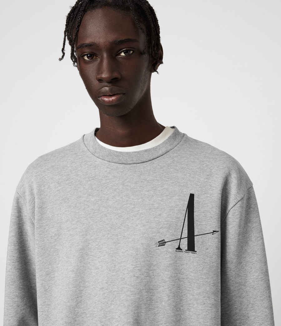 Men's Target Crew Sweatshirt (grey_marl) - Image 4