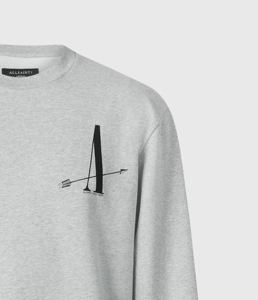 Men's Target Crew Sweatshirt (grey_marl) - Image 5