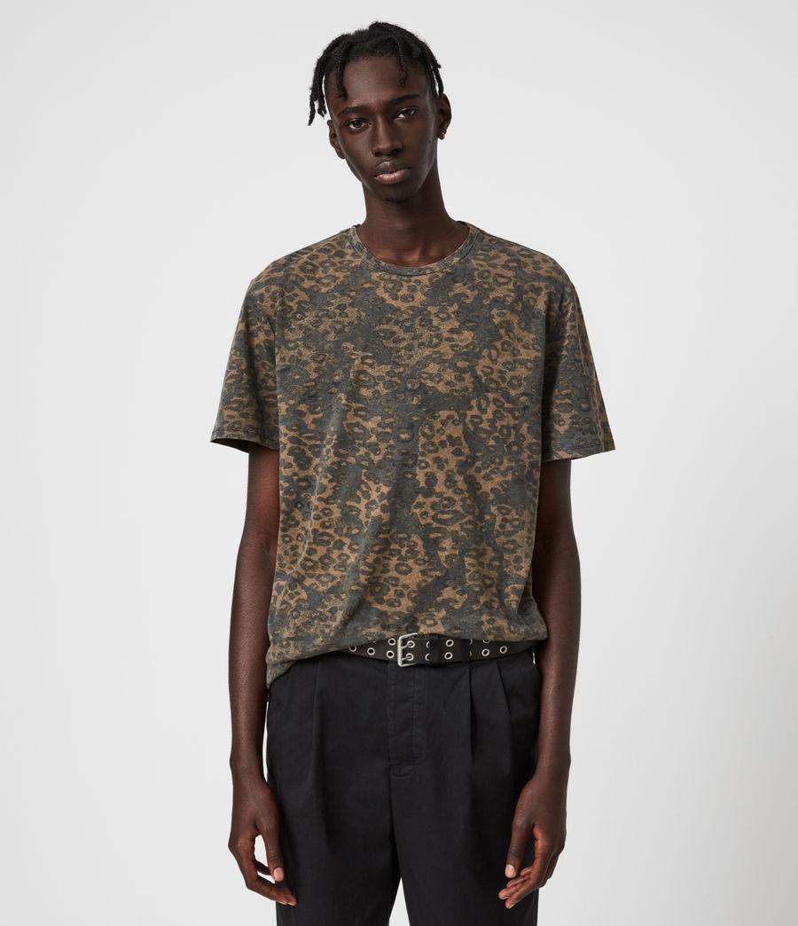 Mens Khaki Camo Crew T-Shirt (vintage_black) - Image 1
