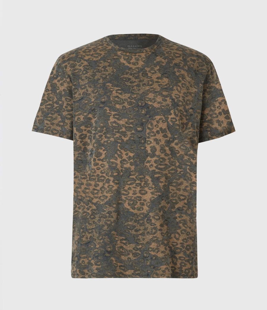 Mens Khaki Camo Crew T-Shirt (vintage_black) - Image 2