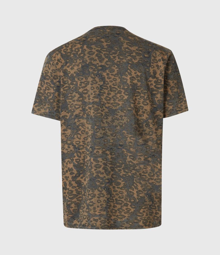Mens Khaki Camo Crew T-Shirt (vintage_black) - Image 3