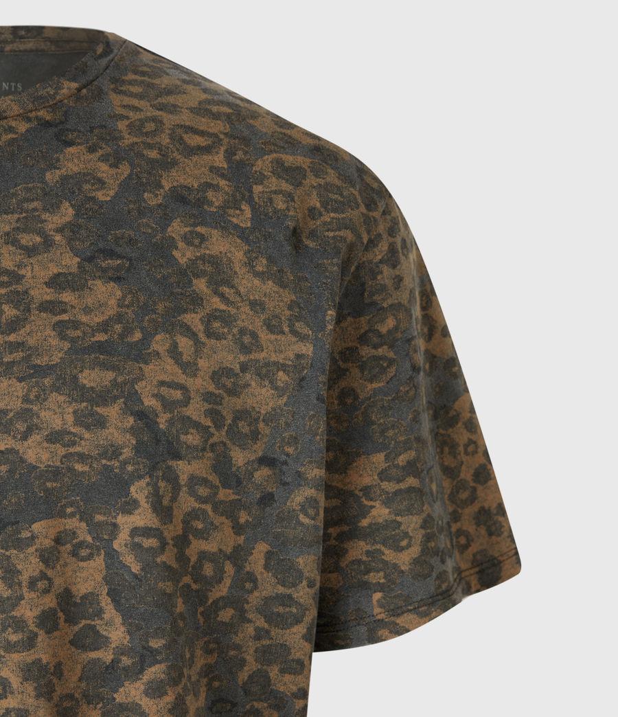 Mens Khaki Camo Crew T-Shirt (vintage_black) - Image 5