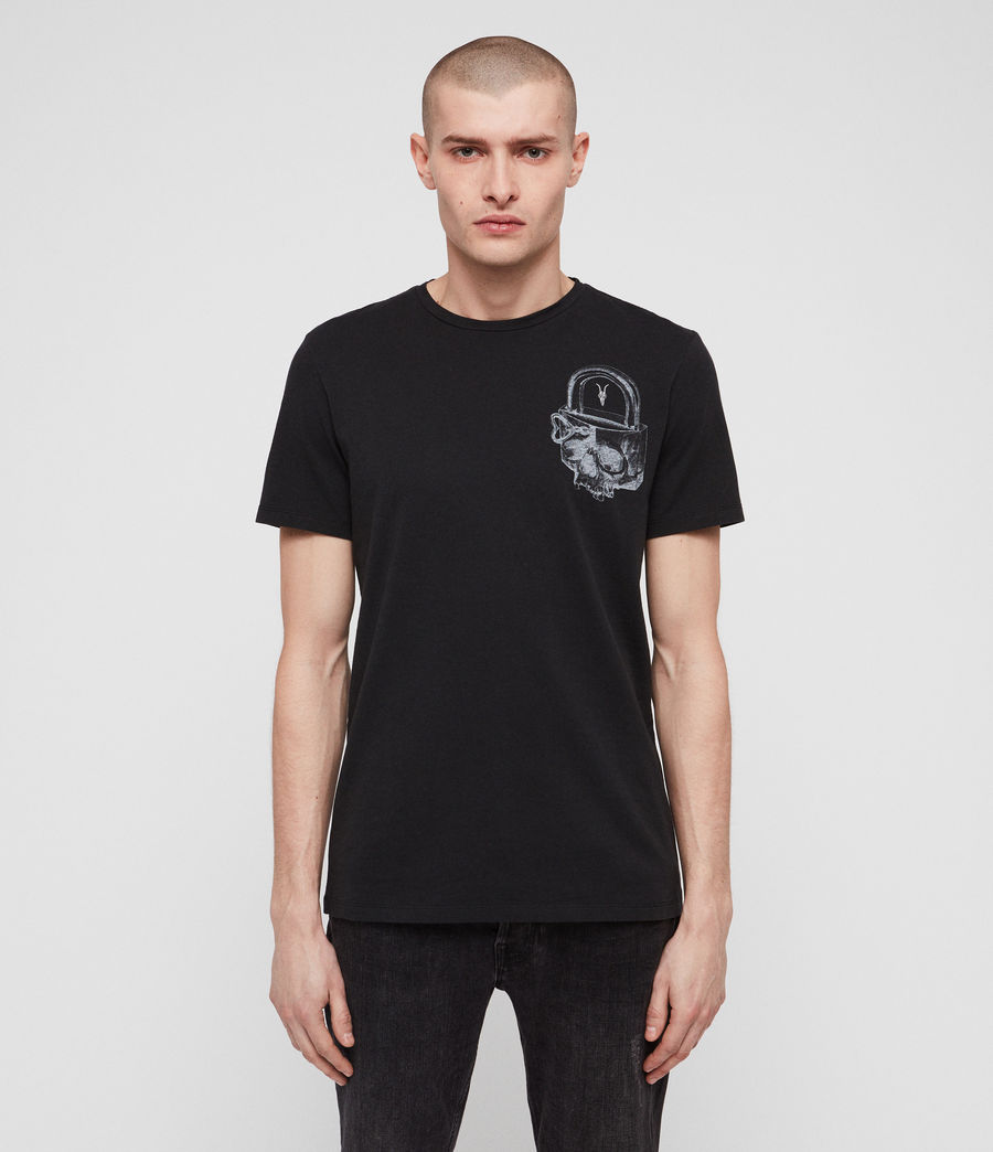 Uomo T-shirt Locked (jet_black) - Image 1