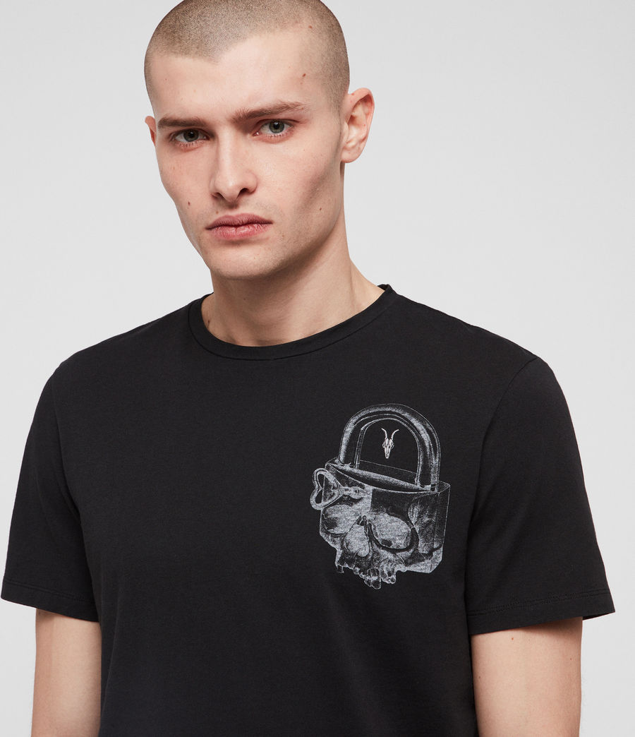 Uomo T-shirt Locked (jet_black) - Image 2
