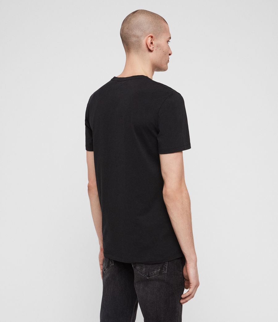 Uomo T-shirt Locked (jet_black) - Image 4