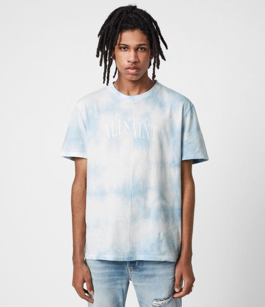 Mens Dropout Tie Dye Crew T-Shirt (optic_white) - Image 1