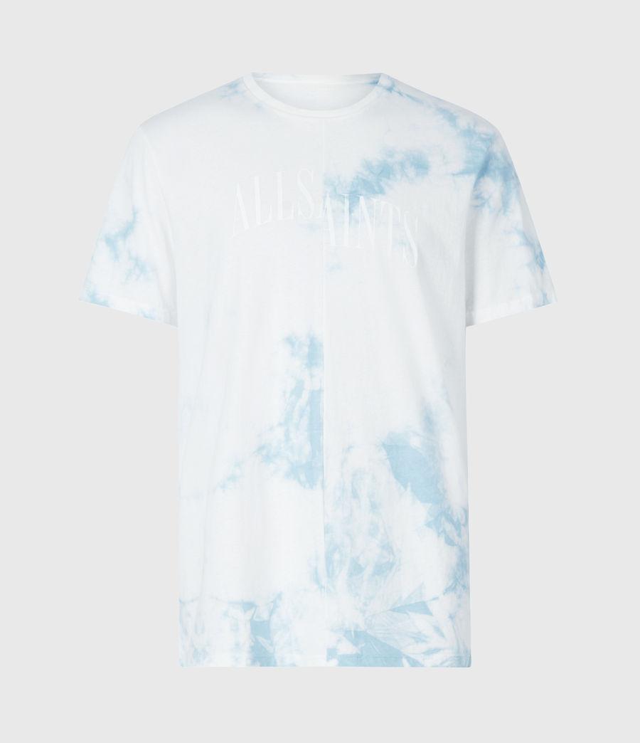 Mens Dropout Tie Dye Crew T-Shirt (optic_white) - Image 2
